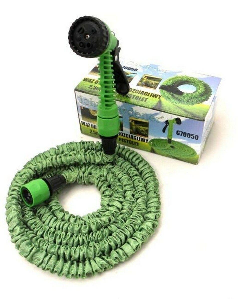Zahradní hadice smršťovací, 2,5m-7,5m,7 funkcí, GEKO