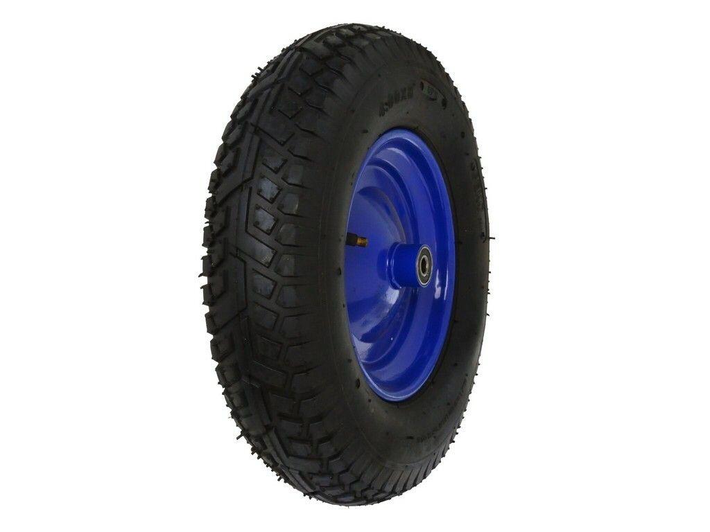 Gumové kolo do vozíku modré, 390x85mm, GEKO