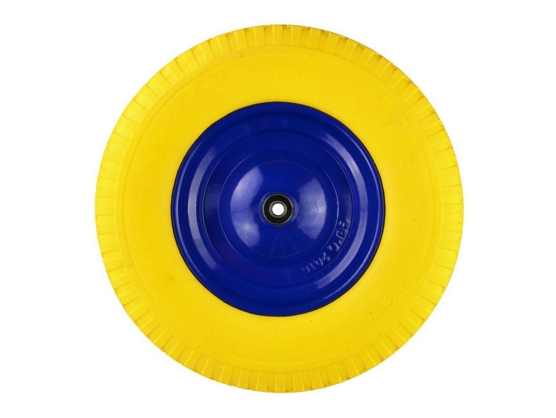 Gumové kolo do vozíku žluté, 400x85mm, GEKO