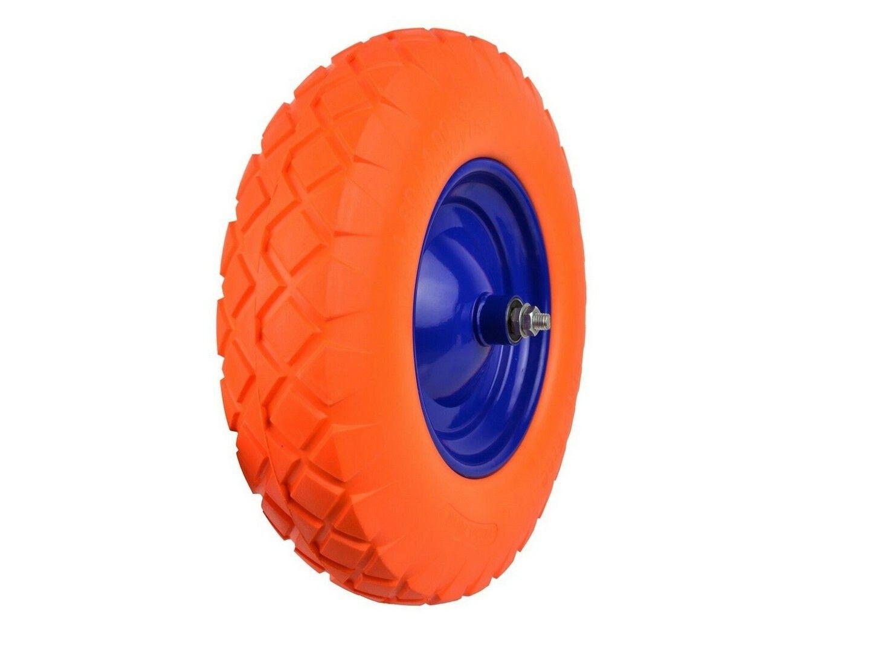 Gumové kolo do vozíku oranžové, 400x90mm GEKO
