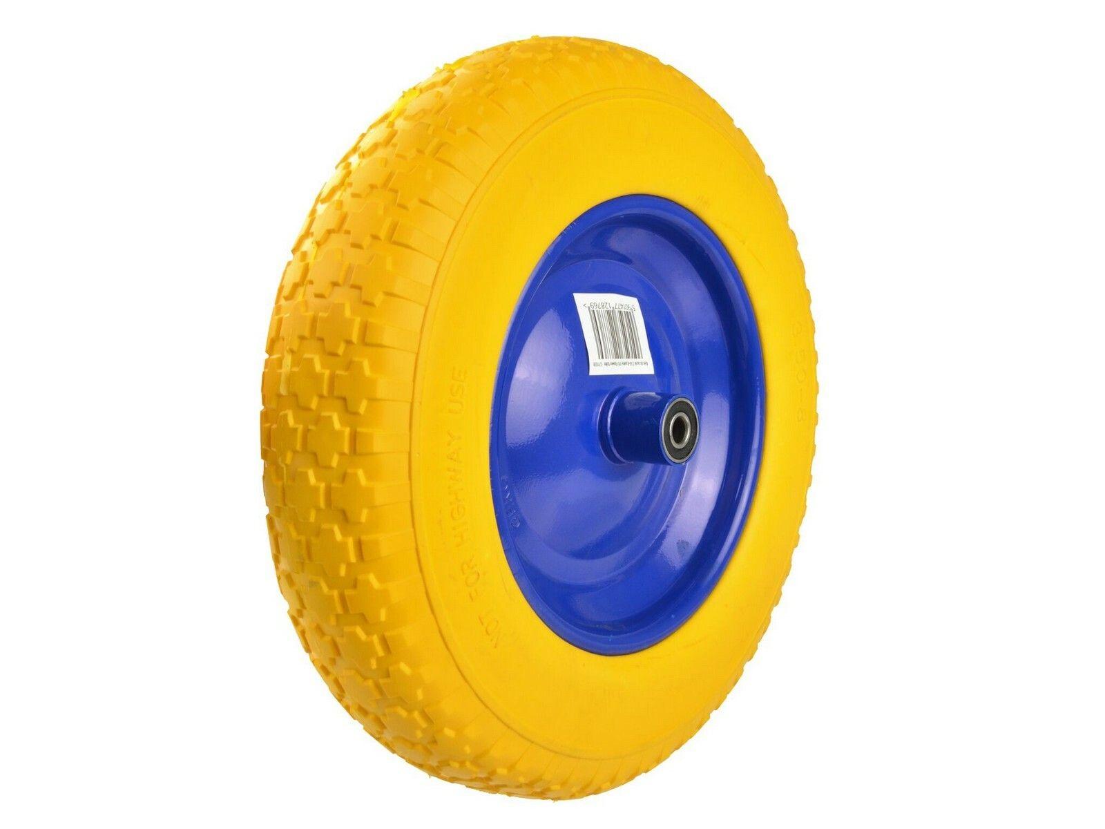Gumové kolo do vozíku, 370mm, žluté GEKO