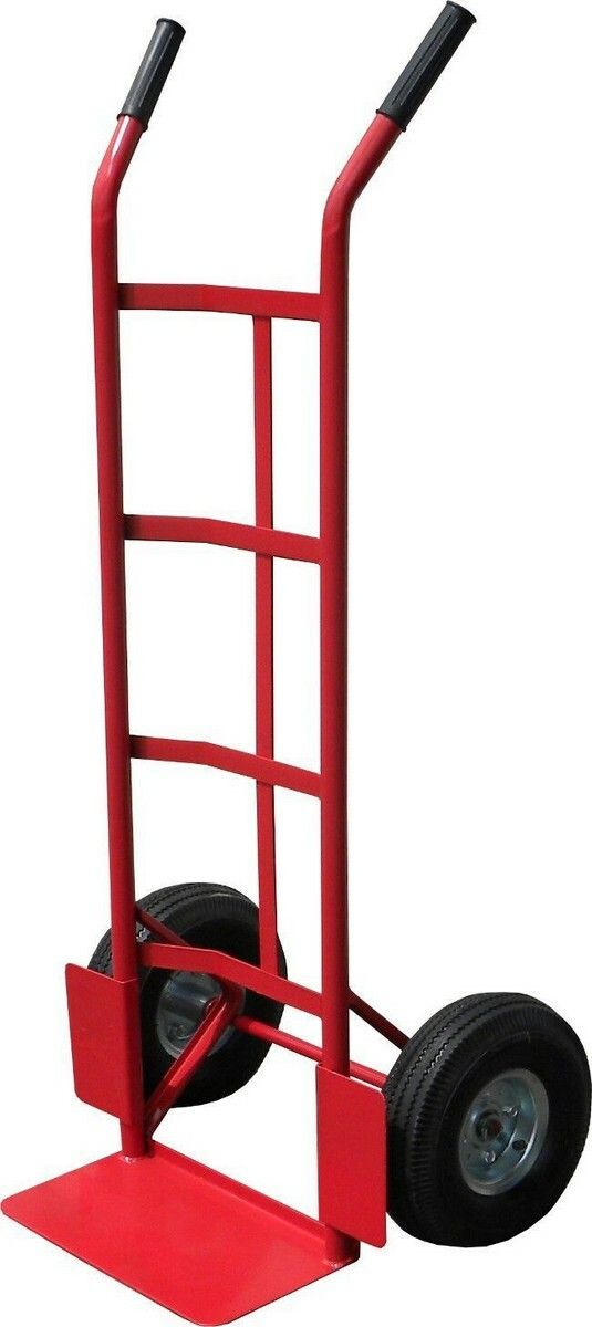 Ruční vozík-rudl. nosnost 200kg 350x180mm. červený GEKO