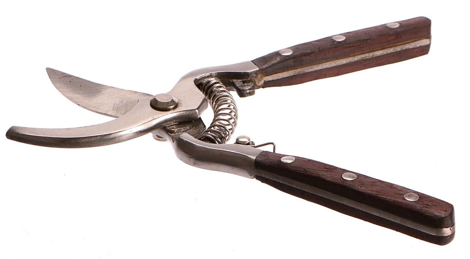 Nůžky zahradnické PROFI, dřevěná rukojeť, 200mm GEKO