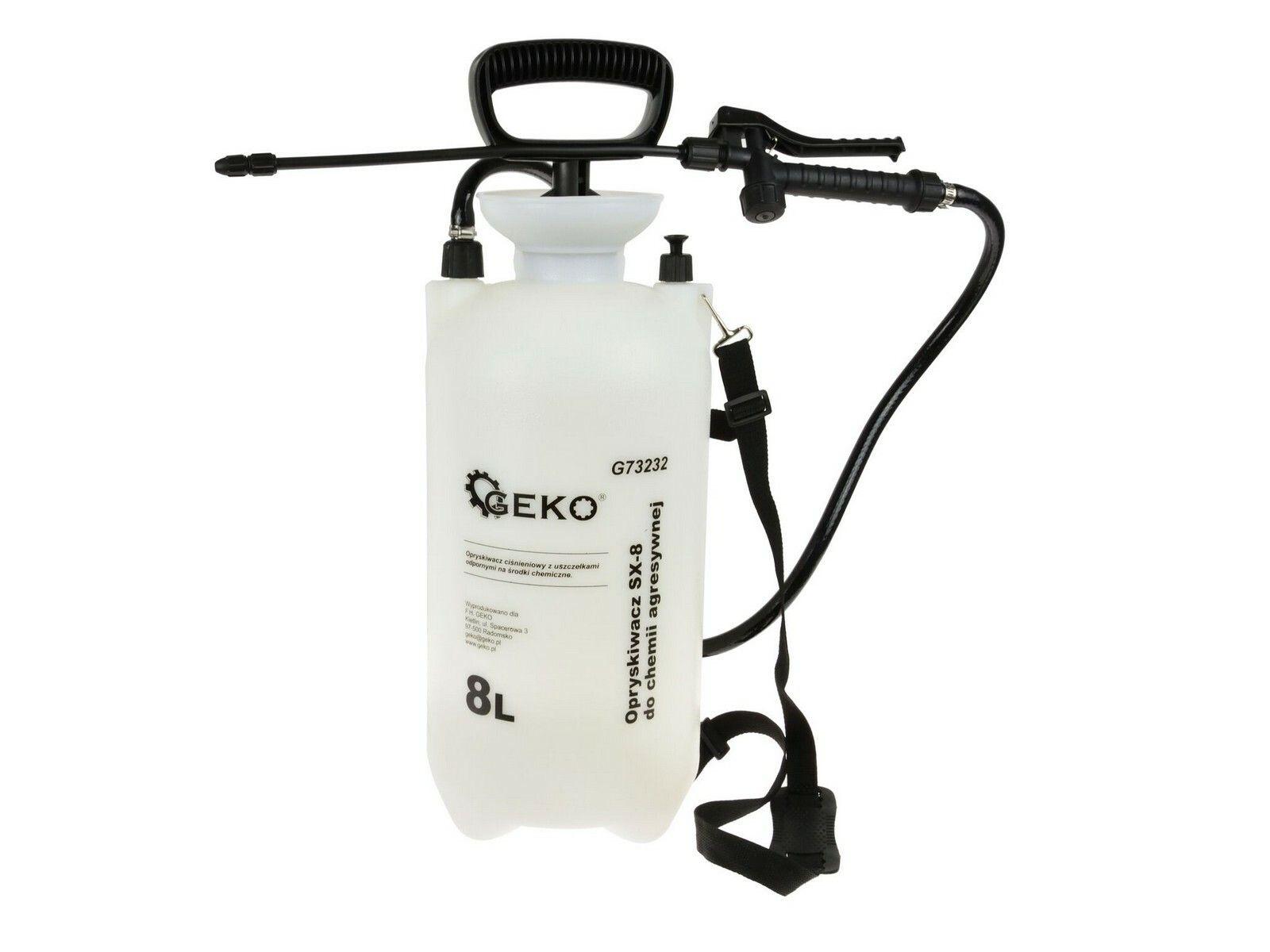 GEKO G73232 Postřikovač tlakový zahradní pro agresivní chemii 8L