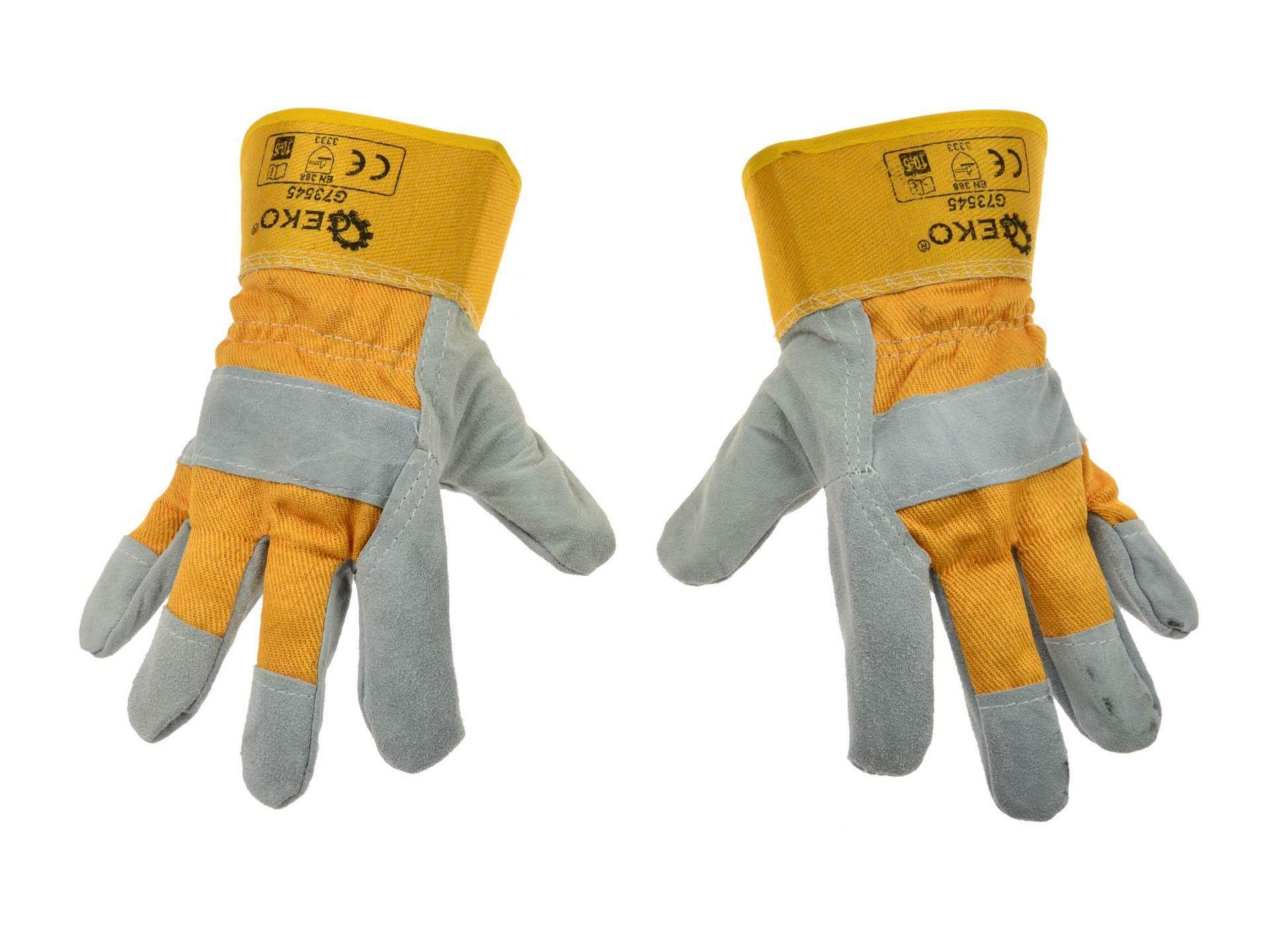 Kožené pracovní rukavice, vel. 10,5 GEKO
