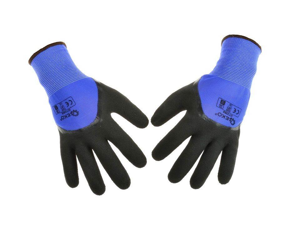 Ochranné pracovní rukavice 3/4, pěnový latex velikost 8 GEKO