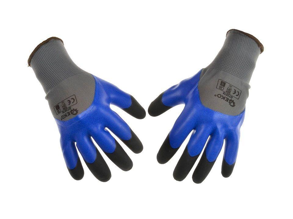 Ochranné pracovní rukavice, zesílené prsty, velikost 8 GEKO