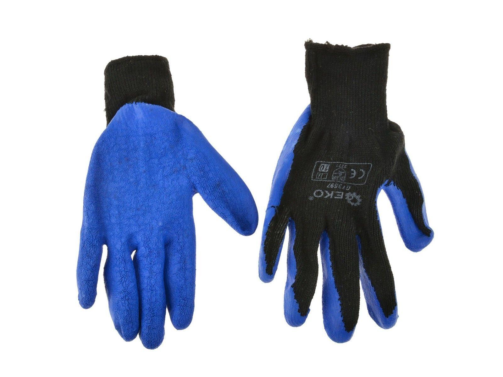 Pracovní zimní rukavice vel. 8 modré GEKO