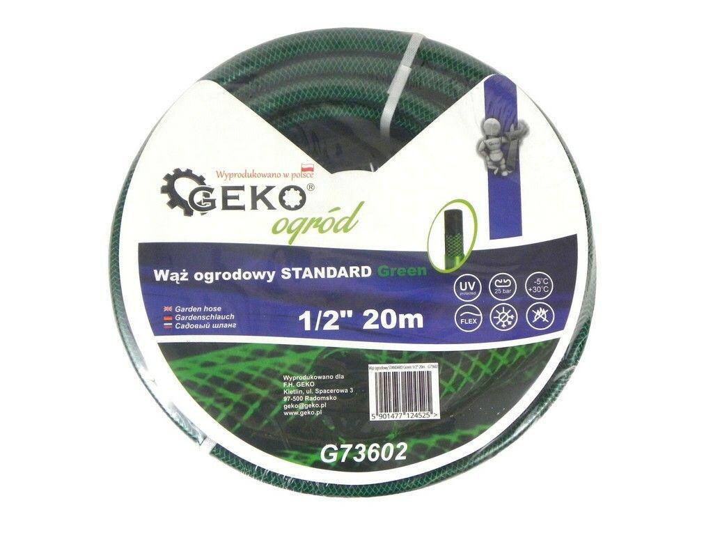 """Hadice zahradní STANDARD zelená 1/2"""", 20 m, GEKO"""