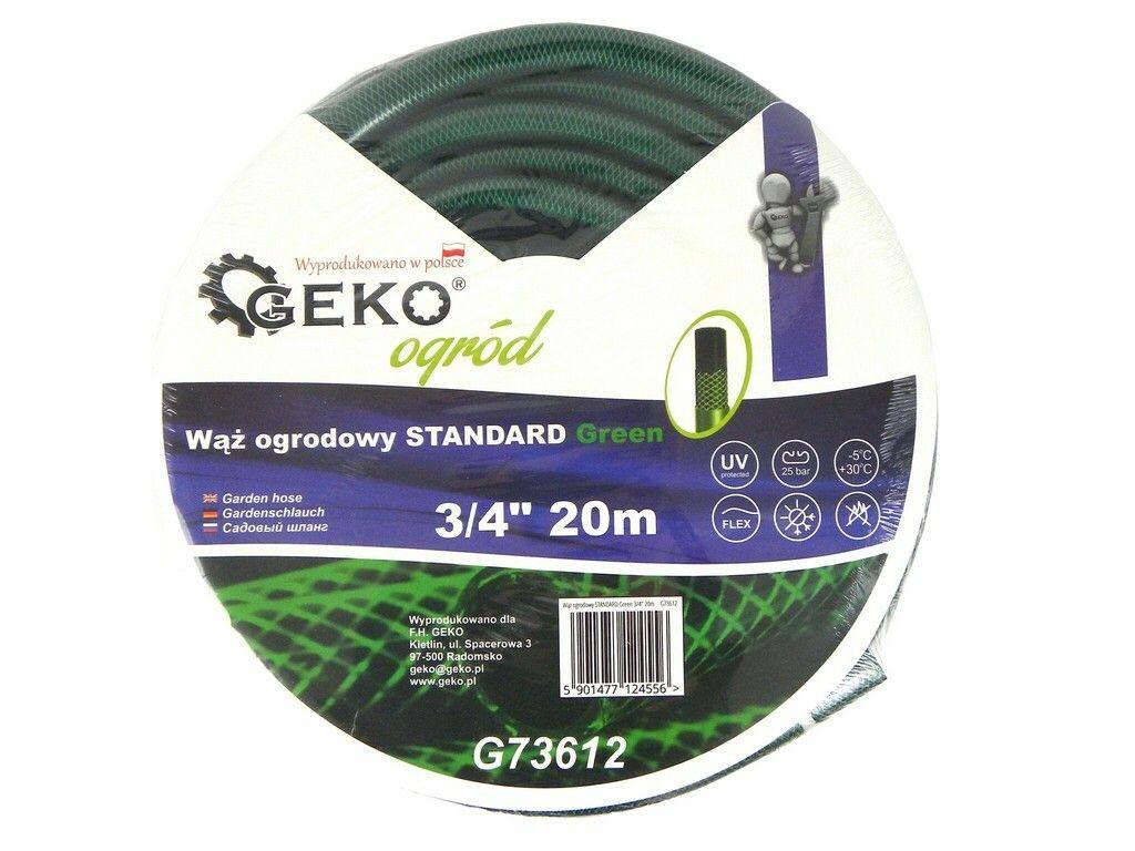 """Hadice zahradní STANDARD zelená 3/4"""", 20 m, GEKO"""