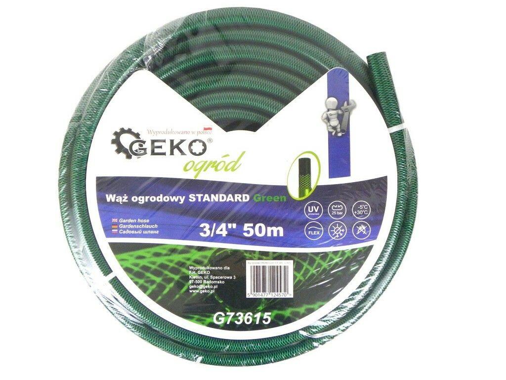 """Hadice zahradní STANDARD zelená 3/4"""", 50 m, GEKO"""