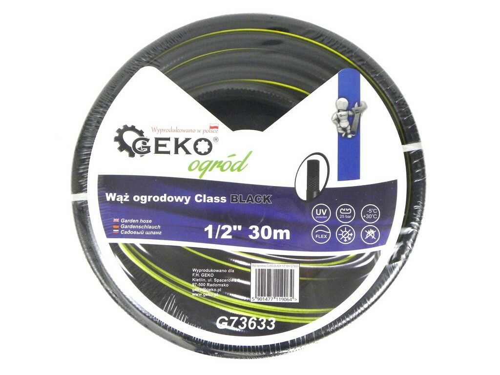 "Hadice zahradní černá 1/2"", 30 m, GEKO"