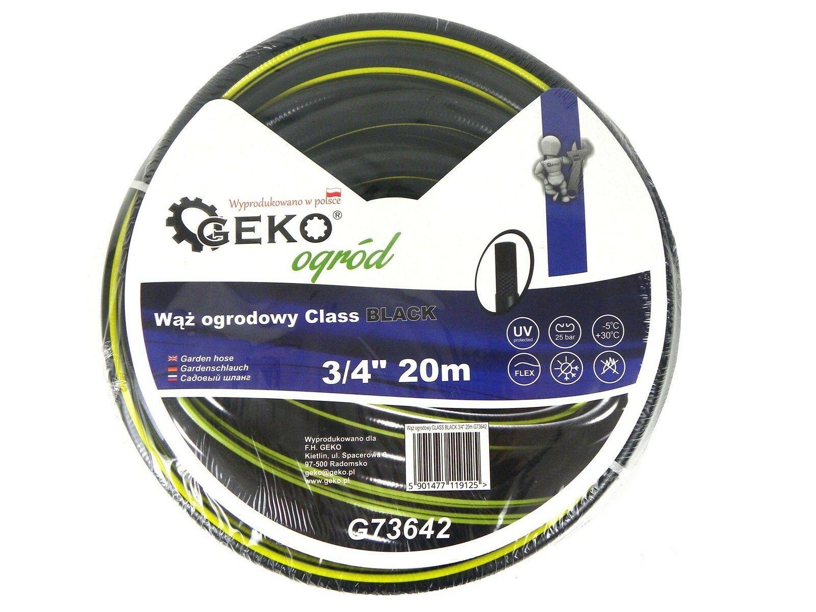 "Hadice zahradní černá 3/4"", 20 m GEKO"