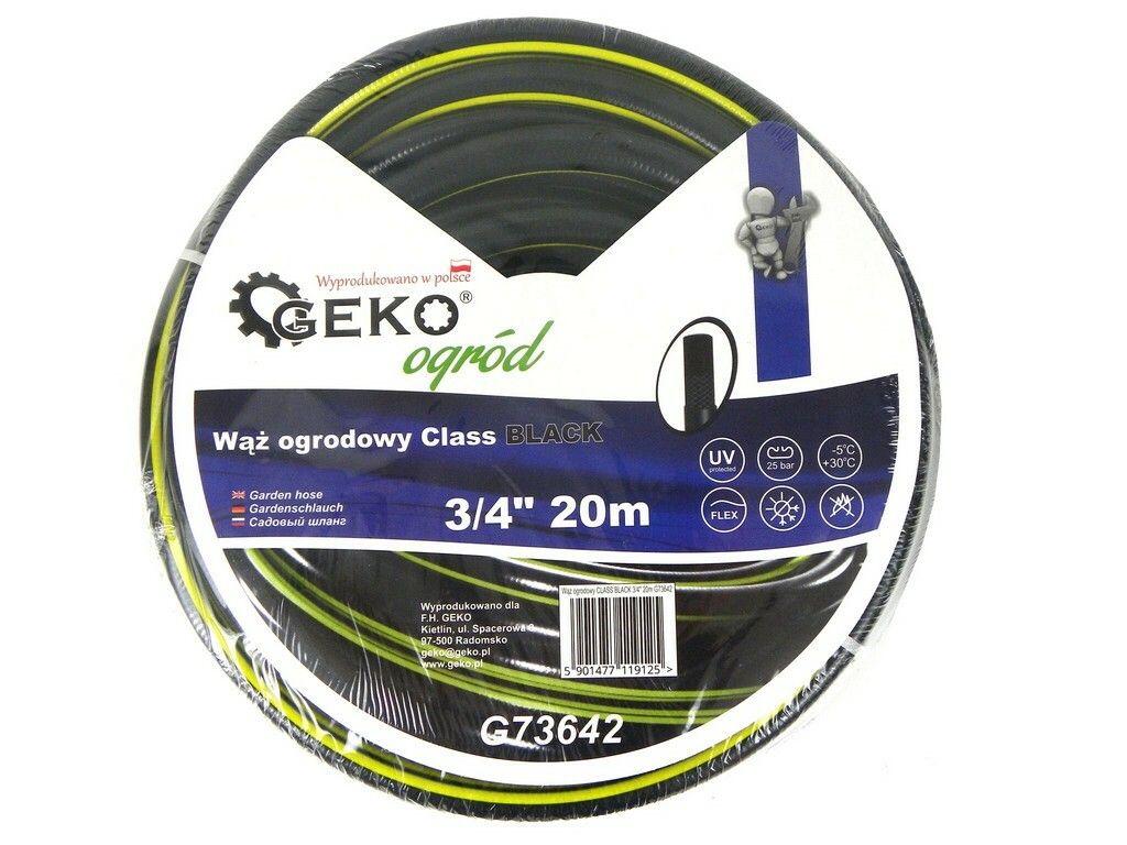 "Hadice zahradní černá 3/4"", 20 m, GEKO"