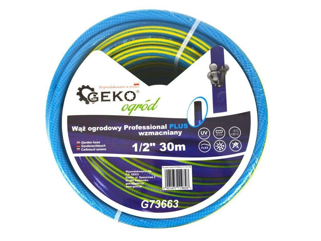 "Hadice zahradní PROFESSIONAL PLUS modrá 1/2"", 30 m, GEKO G73663"