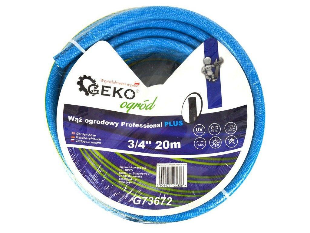 "Hadice zahradní PROFESSIONAL PLUS modrá 3/4"", 20 m, GEKO G73672"