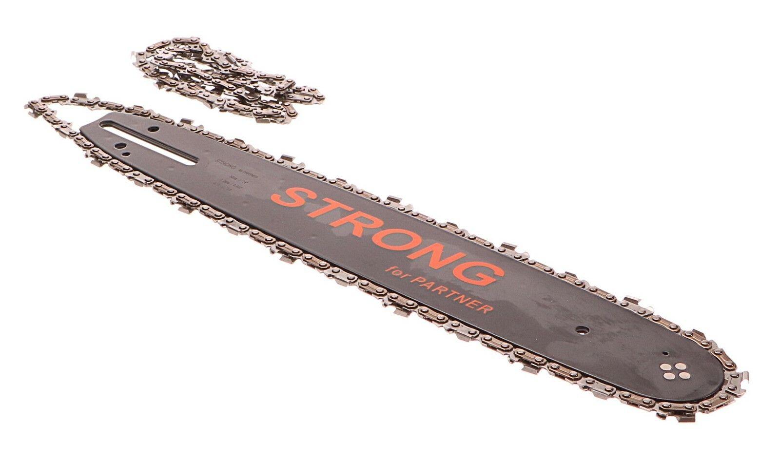 Lišta na řetěz + 2x řetěz, délka 360mm, vhodné pro Partner, GEKO G74012
