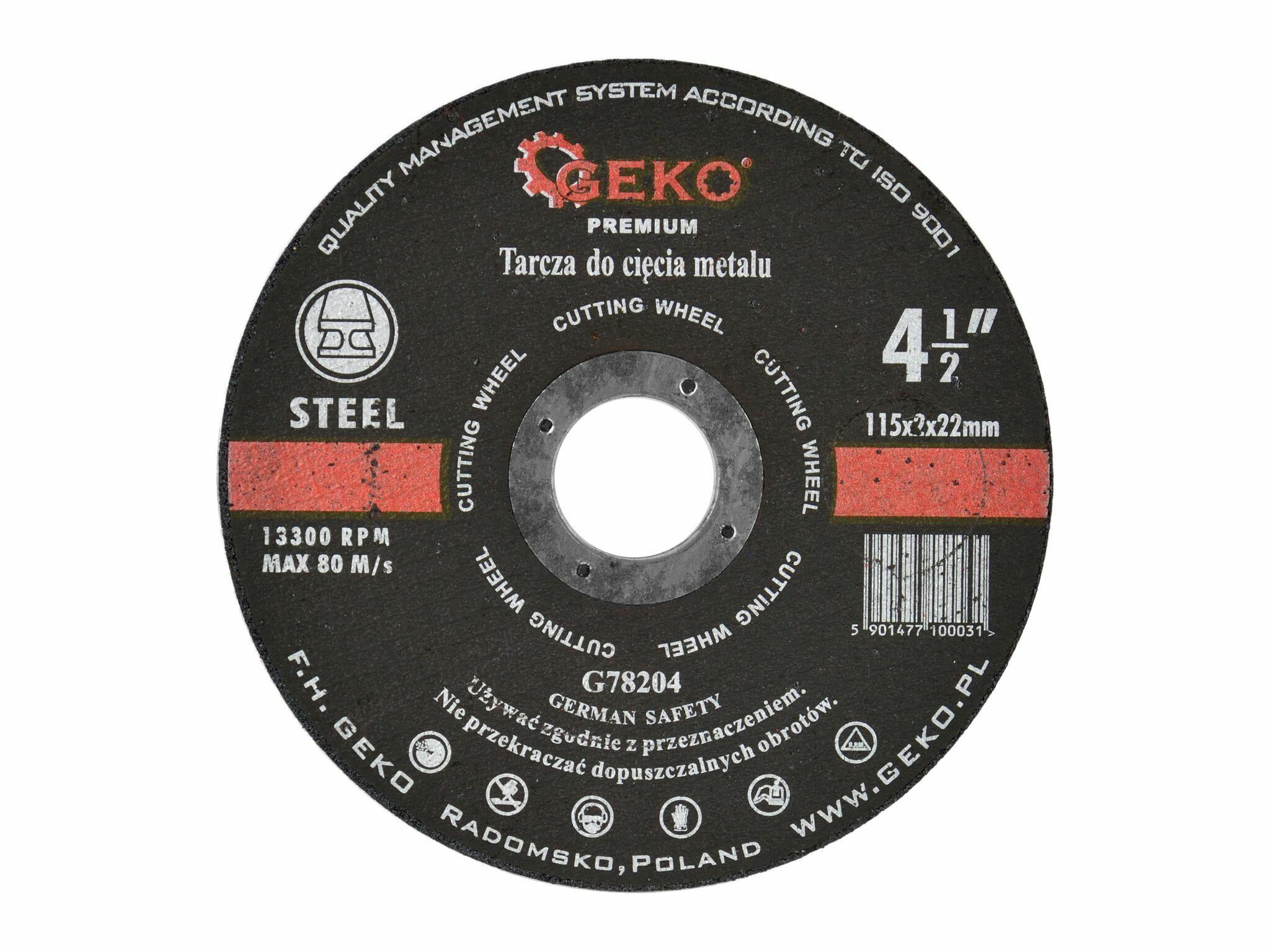 Kotouč řezný na kov, 115x2mm, GEKO PREMIUM
