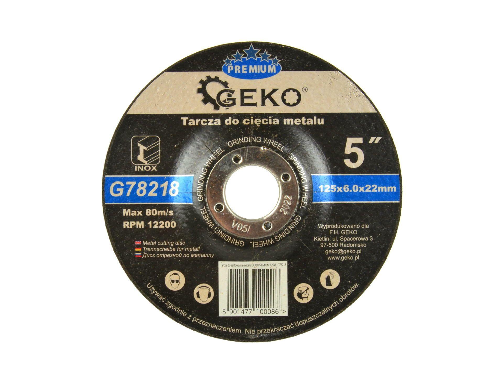 Kotouč brusný na kov, 125x6mm GEKO