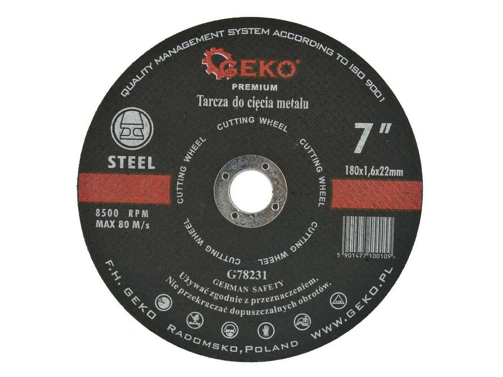 Kotouč řezný na kov, 180x1,6mm, GEKO PREMIUM