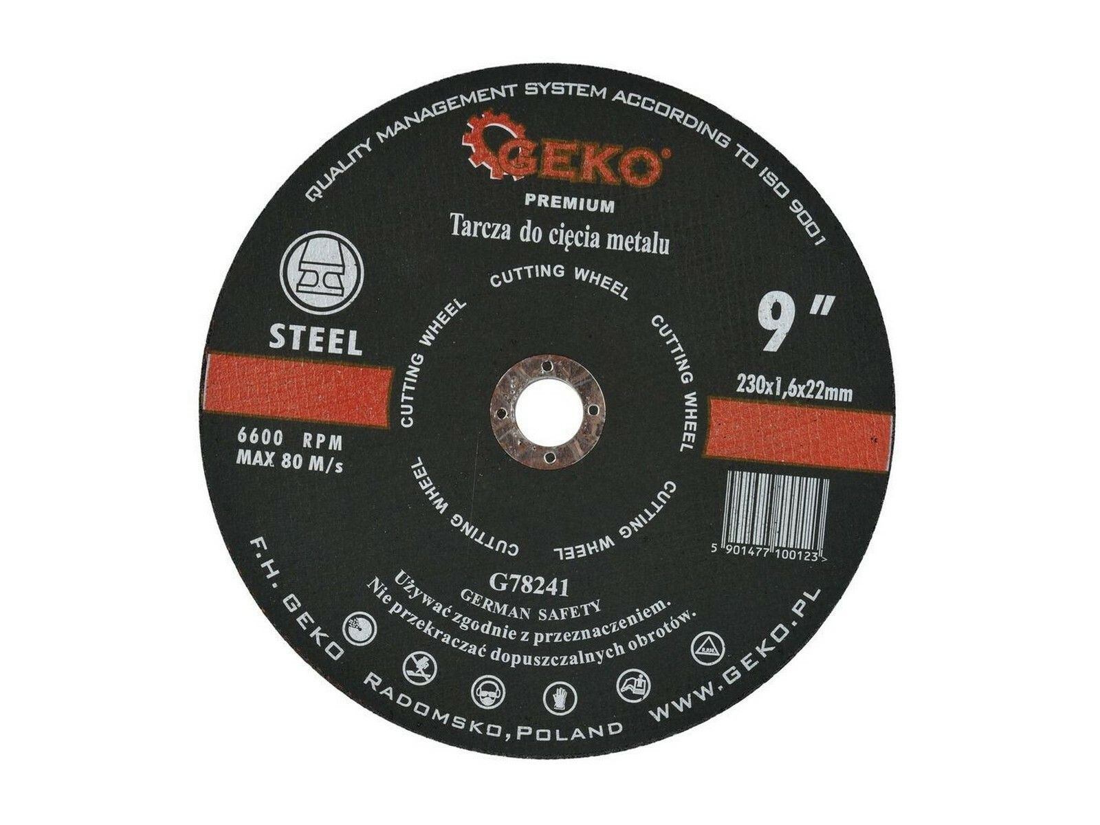Kotouč řezný na kov, 230x1,6mm GEKO