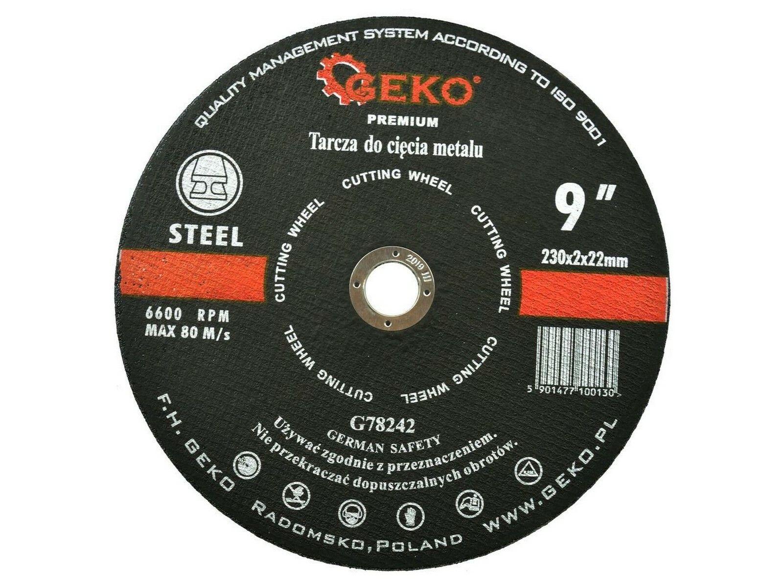 Kotouč řezný na kov, 230x2mm, GEKO PREMIUM