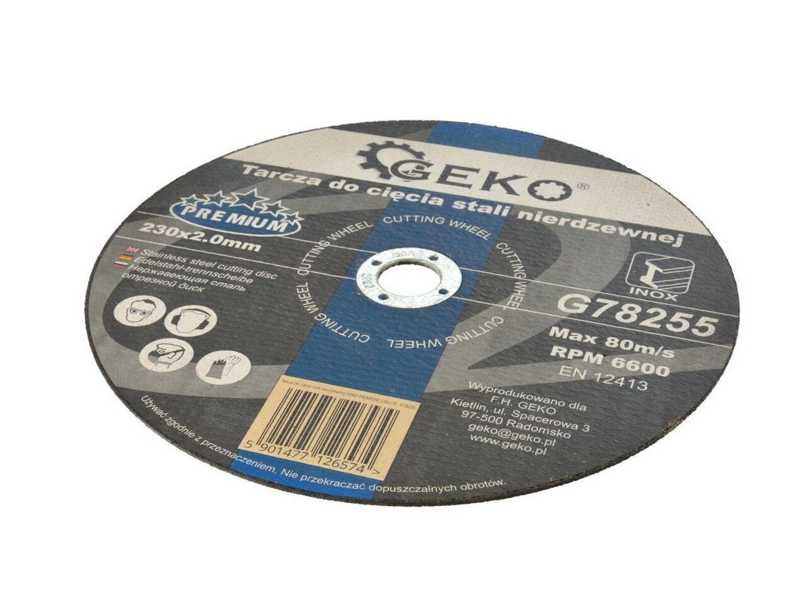 GEKO G78255 Řezný kotouč na nerez ocel 230 x 2.0