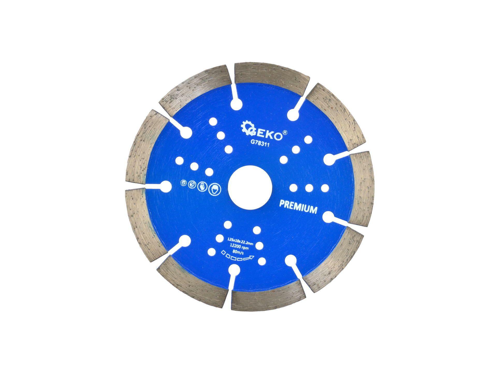Řezný kotouč diamantový segmentový, 125x22x10mm, GEKO