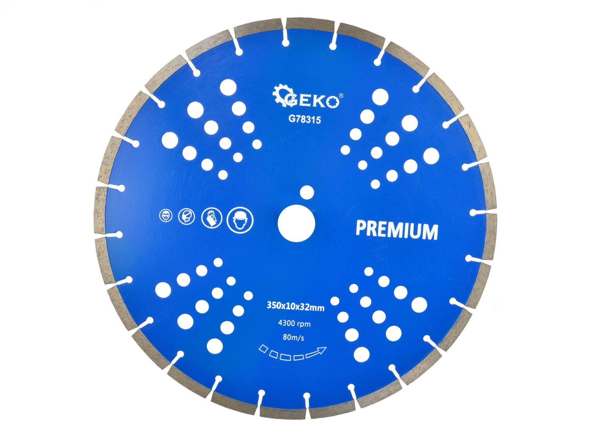 Řezný kotouč diamantový segmentový, 350x32x10mm GEKO