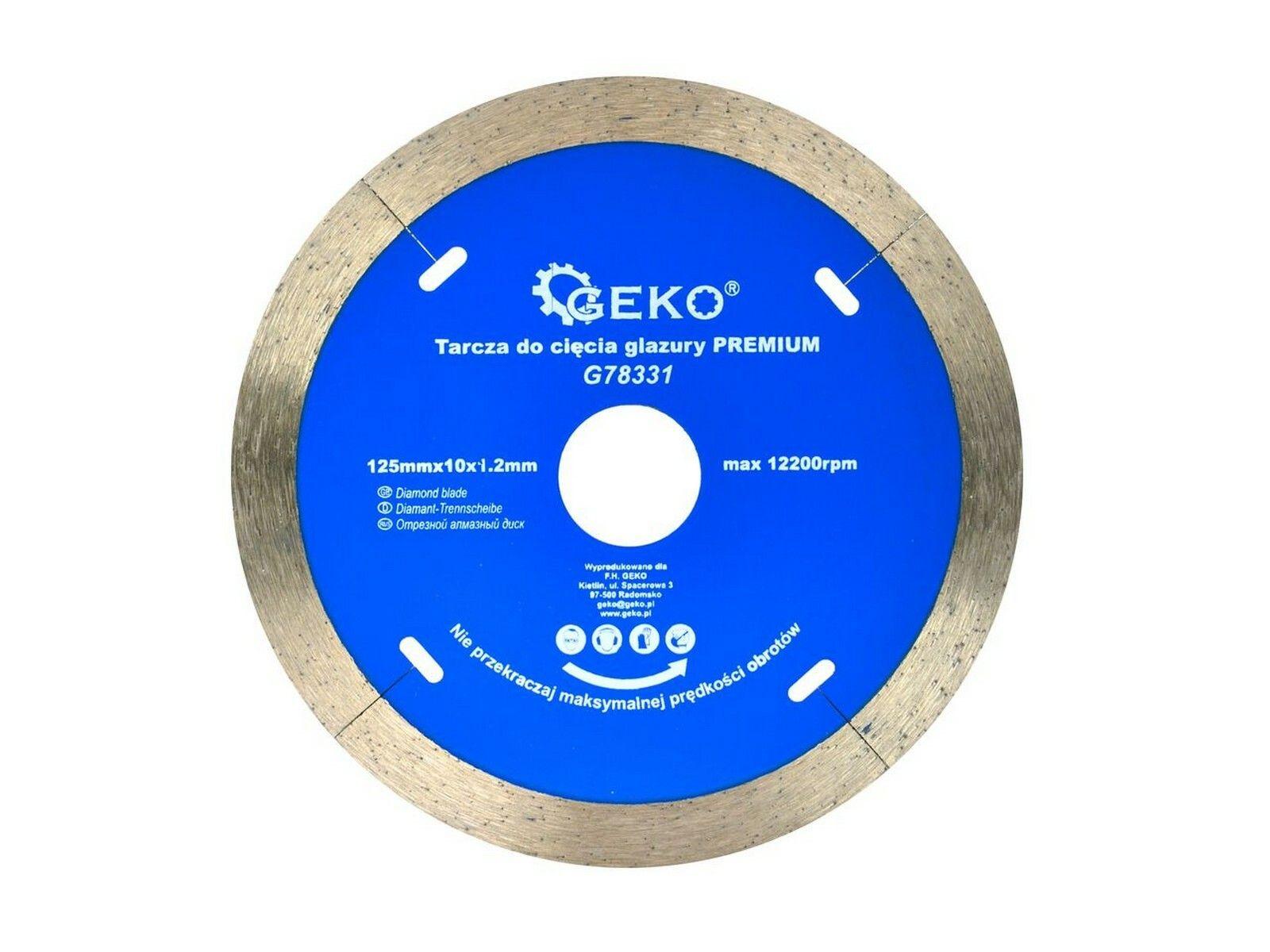 Diamantový řezný kotouč na keramické dlaždice 125mm x 10 x 1,2mm GEKO