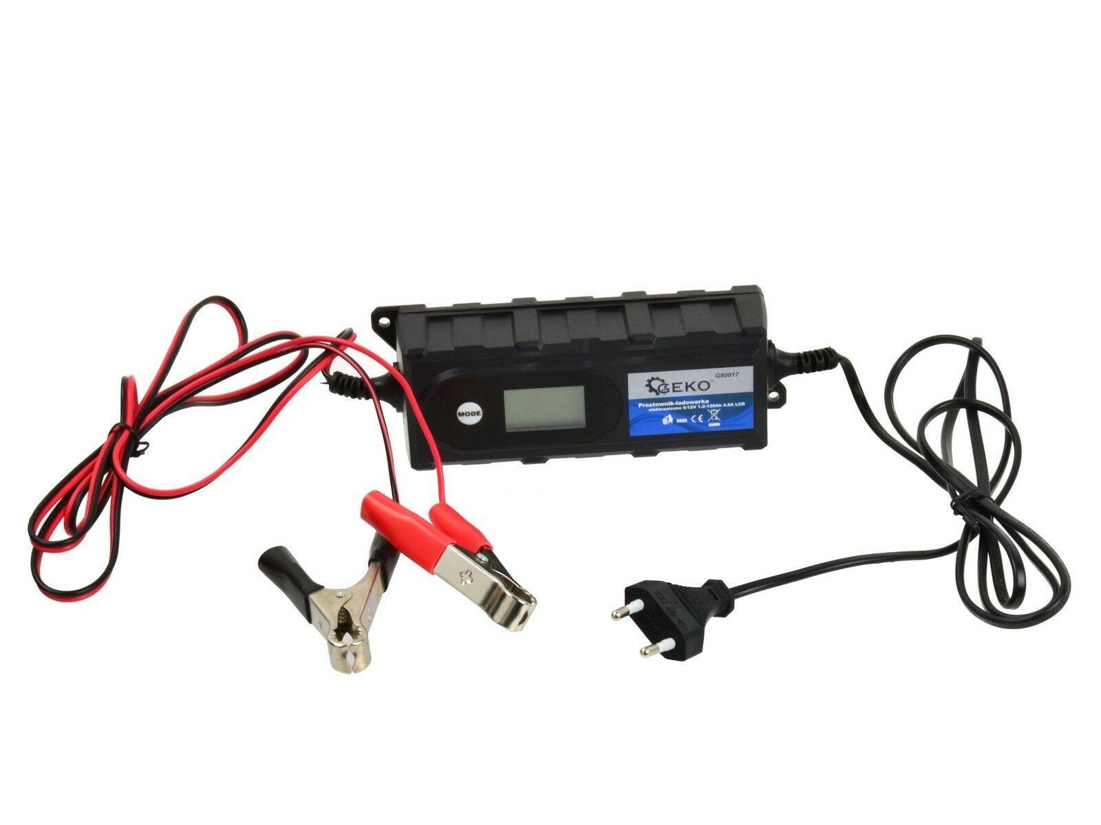 GEKO G80017 Nabíječka baterií 6/12V 1,2-120Ah 4,0A LCD