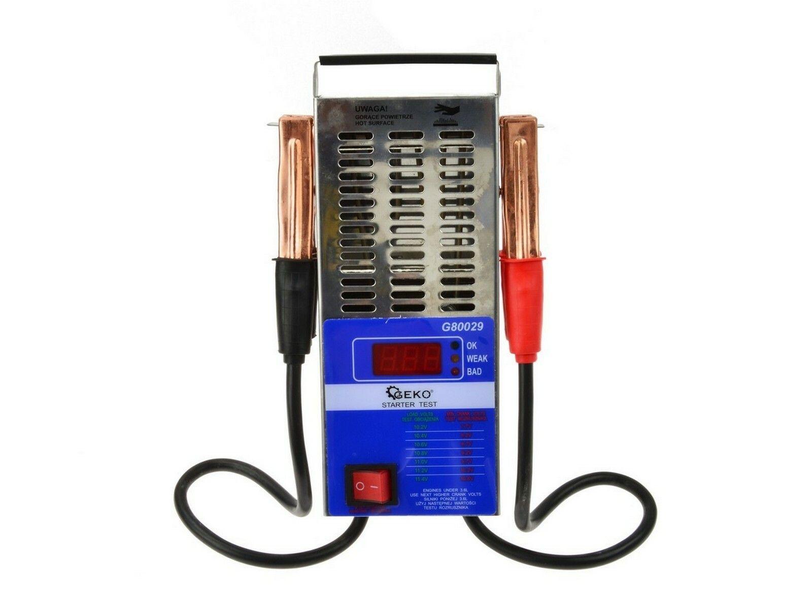 Tester autobaterie zátěžový LED GEKO