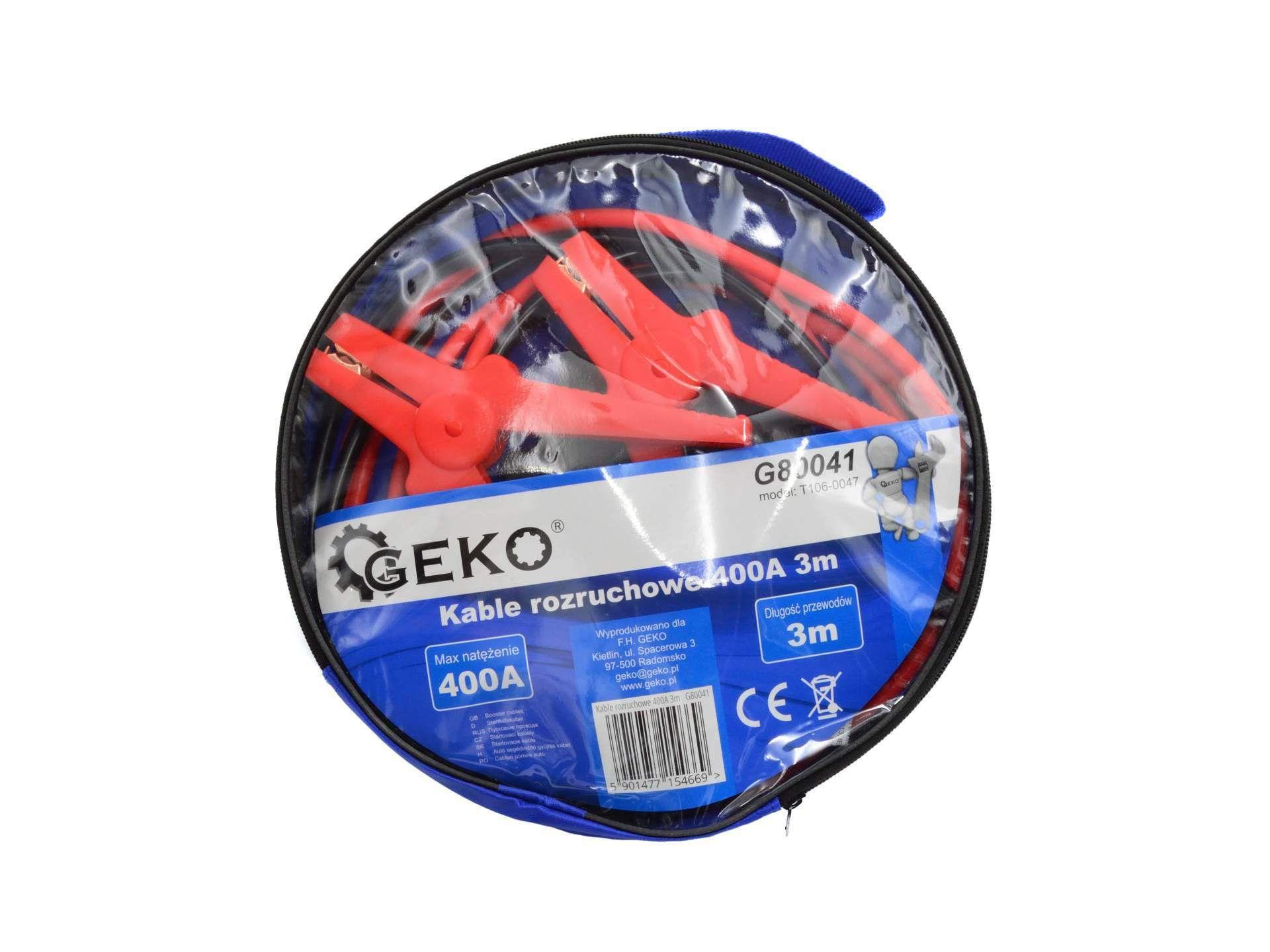 Startovací kabely 400A 3m GEKO