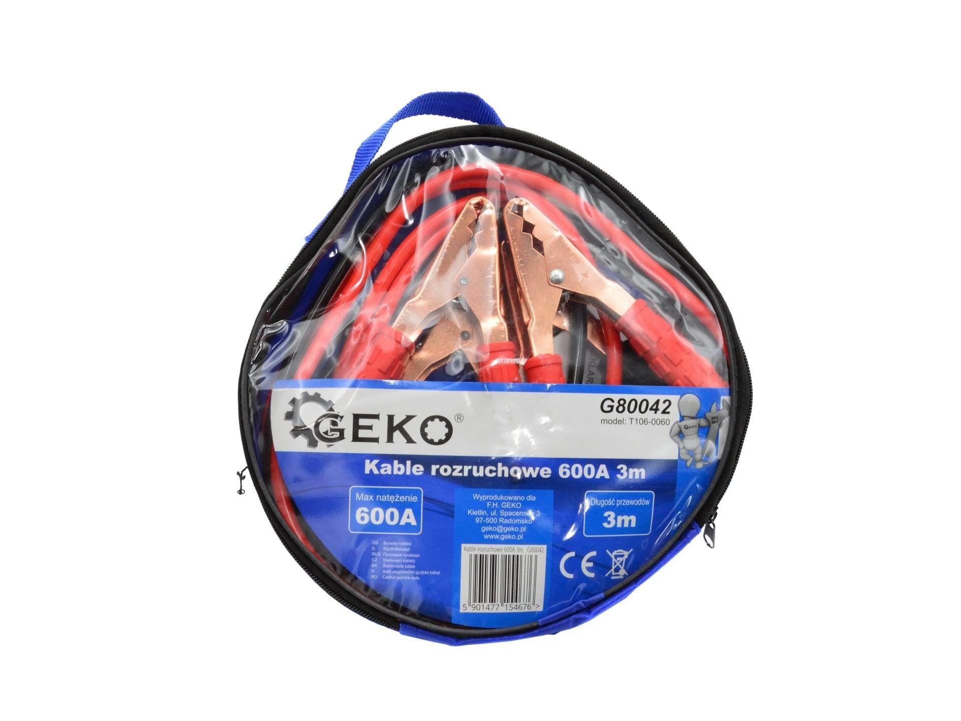 Startovací kabely 600A 3m GEKO