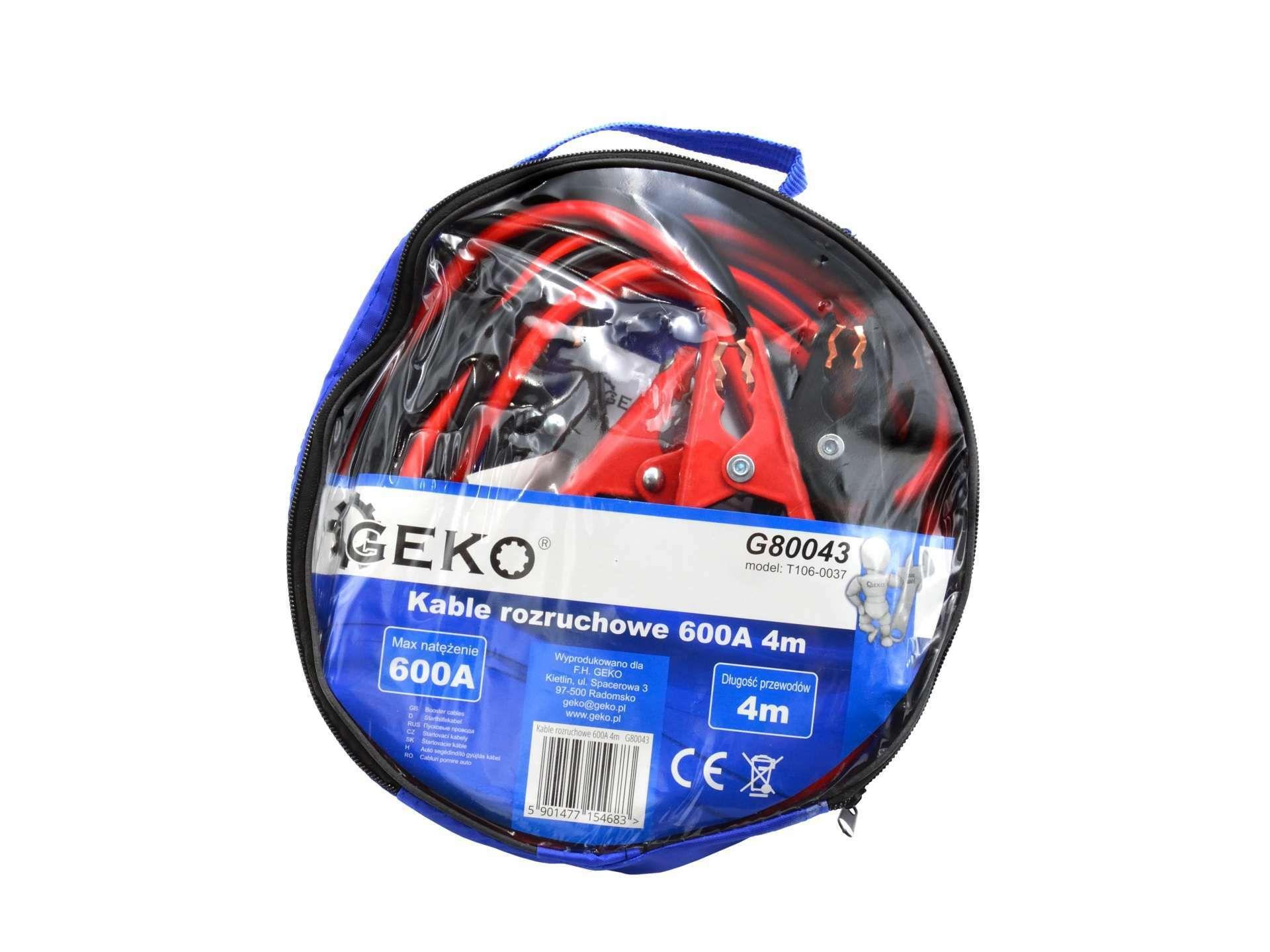 Startovací kabely 600A 4m GEKO