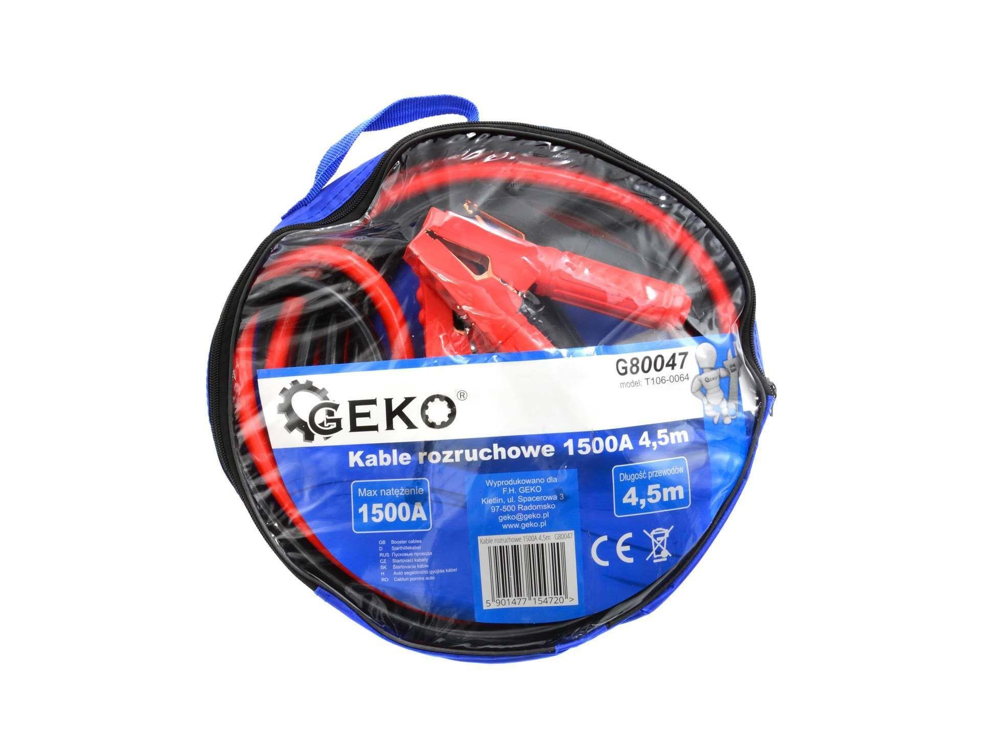 GEKO G80047 Startovací kabely 1500A / 4,5m
