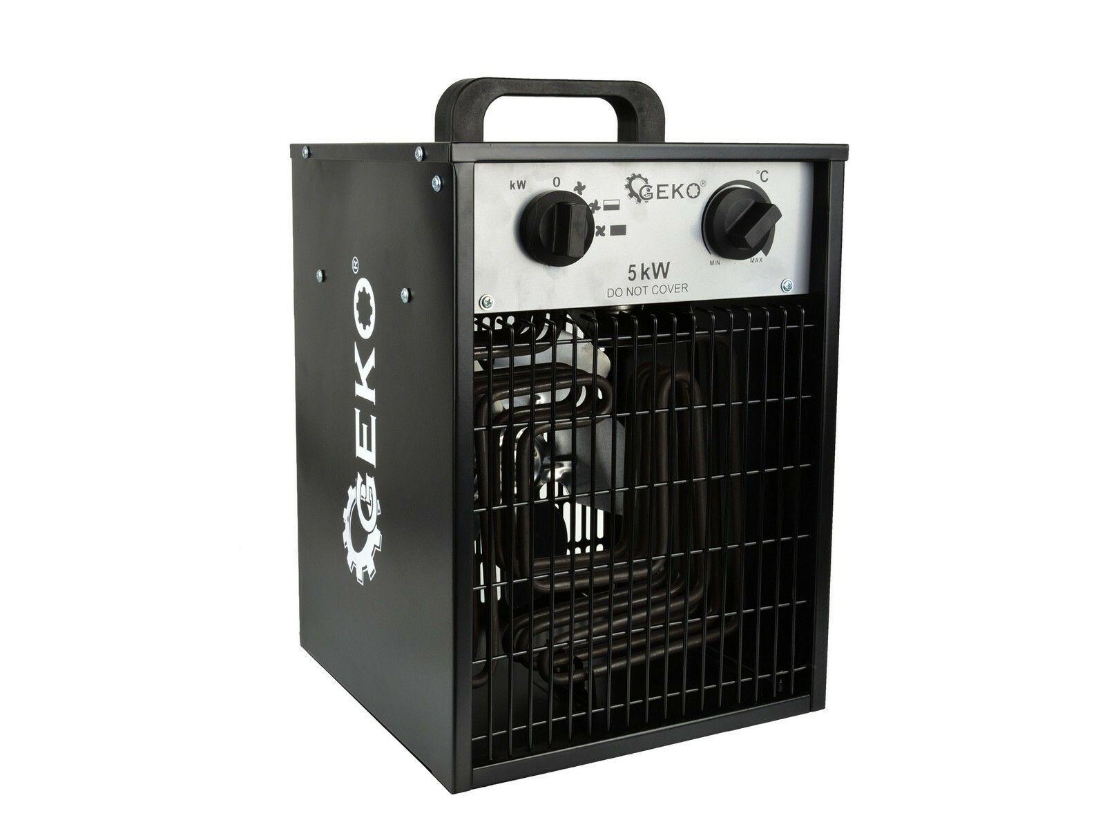 Elektrický ohřívač vzduchu s ventilátorem 5kW GEKO