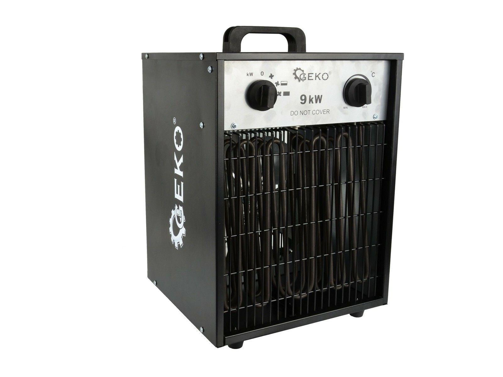 Elektrický ohřívač vzduchu s ventilátorem 9kW GEKO