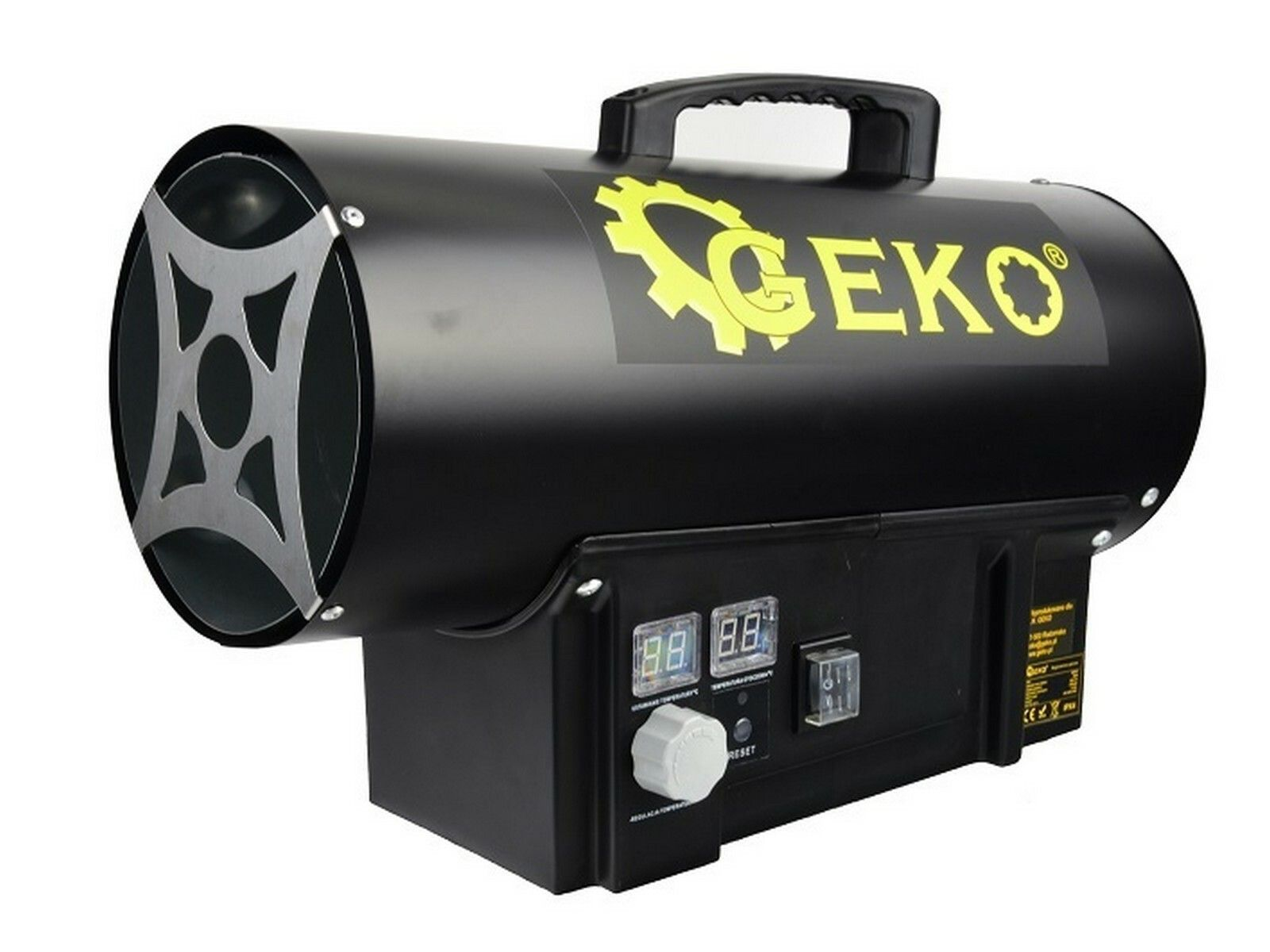 Horkovzdušná plynová turbína s termostatem, 20kW GEKO