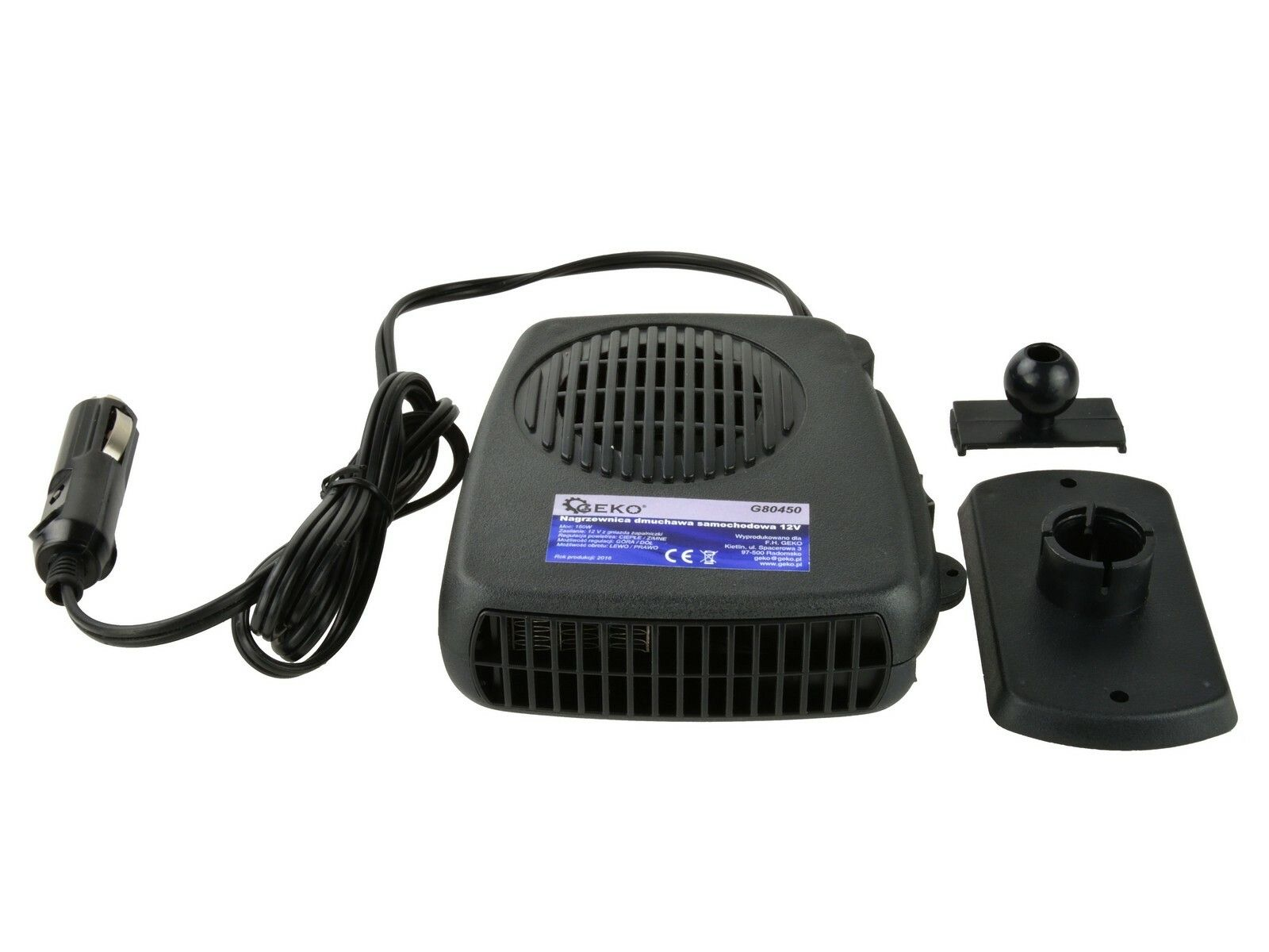 Ohřívač vzduchu 12V, 150W GEKO