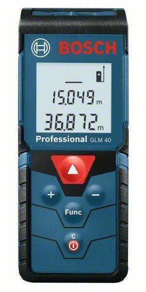 Laserový měřič vzdálenosti Bosch GLM 40 Professional, 0601072900