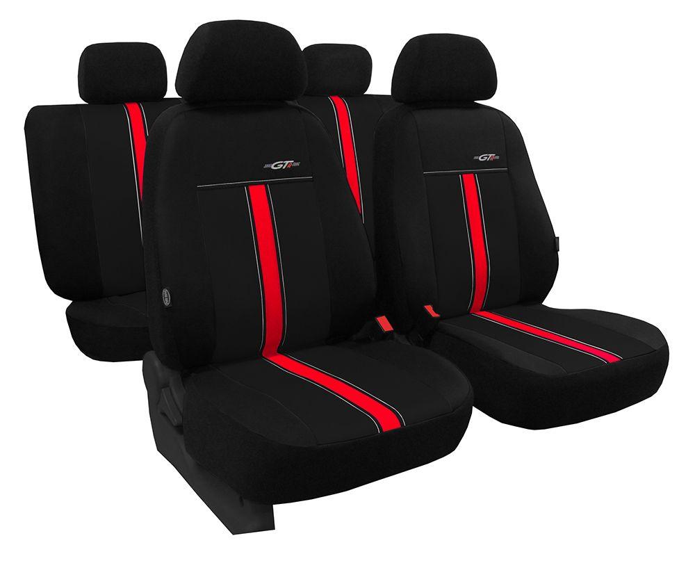 Autopotahy kožené GTR černo červené SIXTOL