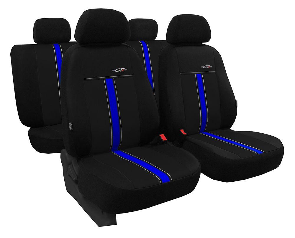 Autopotahy kožené GTR černo modré SIXTOL