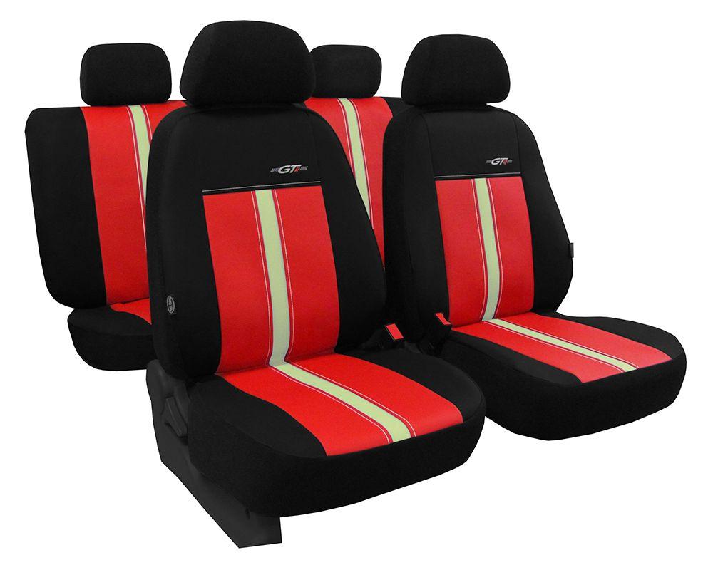 Autopotahy kožené GTR červeno béžové SIXTOL