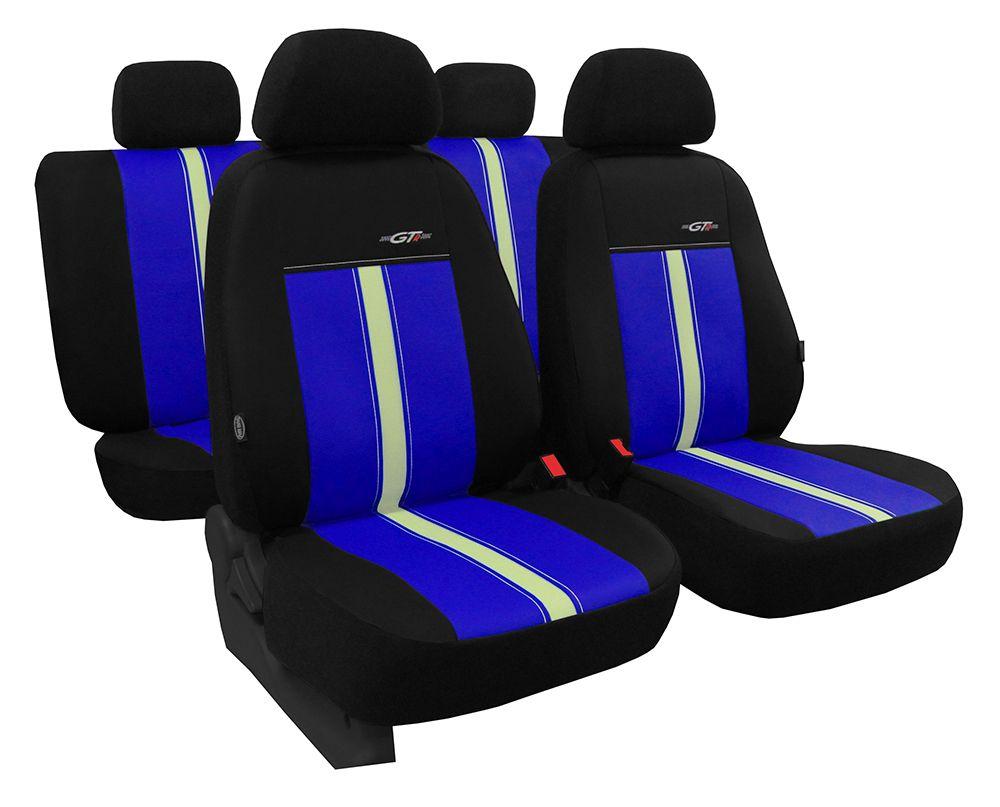 Autopotahy kožené GTR modro béžové SIXTOL