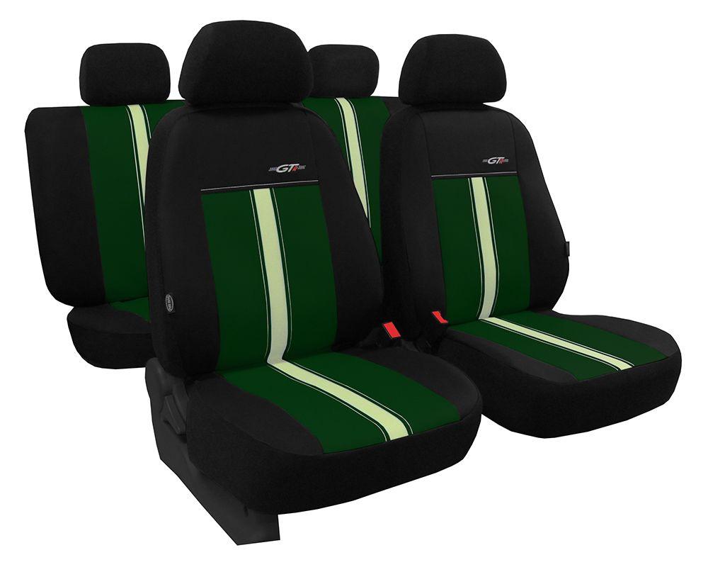 Autopotahy kožené GTR zeleno béžové SIXTOL