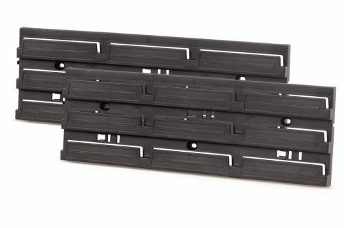 Montážní panel HANGING BAR 386x130x18 černý, 2 ks PROSPERPLAST