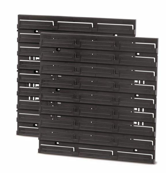 Montážní panel HANGING BAR 386x390x18 černý, 2 ks PROSPERPLAST