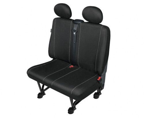 Autopotahy SOLID DV dodávka – 2 sedadla, černé SIXTOL