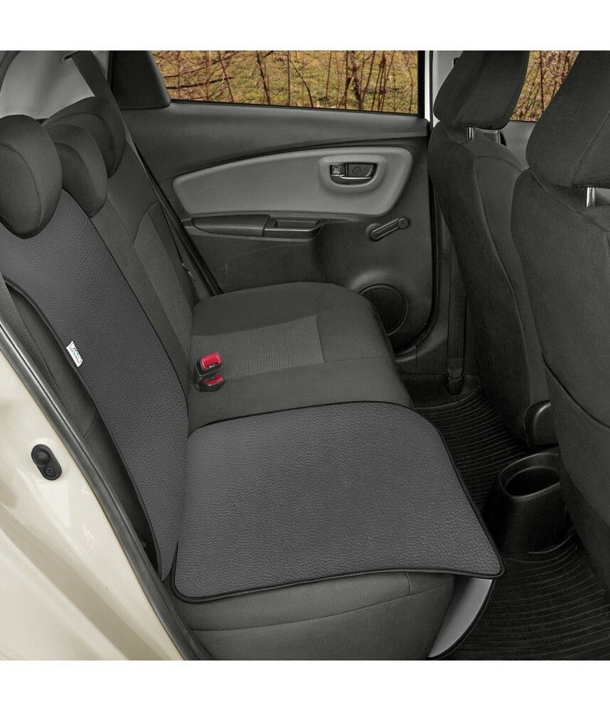 Ochranná podložka pod autosedačku pro přepravu dětí JUNIOR Artificial Leather šedá SIXTOL